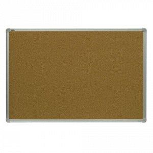 Доска пробковая для объявлений 90x120 см, алюминиевая рамка, 2х3 OFFICE, (Польша), TCA129