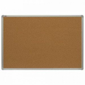 Доска пробковая для объявлений 100x150 см, алюминиевая рамка, 2х3 OFFICE, (Польша), TCA1510