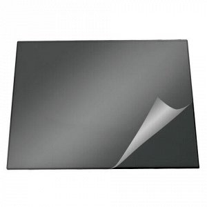 Коврик-подкладка настольный для письма (650х520 мм), c прозрачным листом, черный, DURABLE (Германия), 7203-01