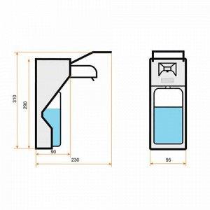 Диспенсер локтевой для жидкого мыла НАЛИВНОЙ, 1 л, с еврофлаконом, алюминий, KSITEX, SM-1000