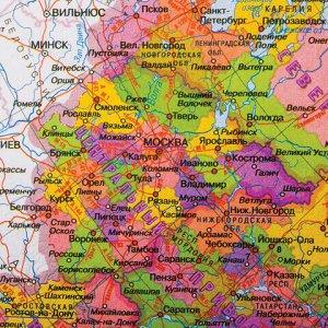 Коврик-подкладка настольный для письма (590х380 мм), с картой России, BRAUBERG, 236776
