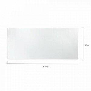 Коврик-подкладка настольный 500х1200 мм, прозрачный матовый, 1,2 мм, BRAUBERG, 237374