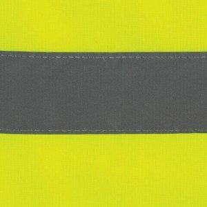 Жилет сигнальный ГОСТ, 2 светоотражающие полосы, ЛИМОННЫЙ, XXL (56-58), ПЛОТНЫЙ ГРАНДМАСТЕР, 610835