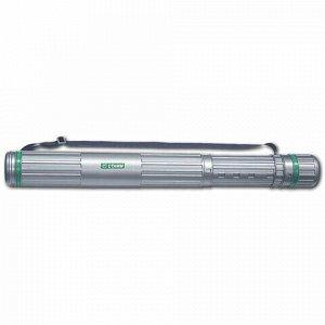 Тубус для чертежей СТАММ телескопический, диаметр 8,5 см, 70-110 см, А0, серый, на ремне, ПТ12