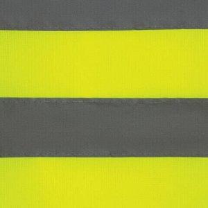 Жилет сигнальный, 2 светоотражающие полосы, ЛИМОННЫЙ, XL (52-54), ЭКОНОМ, ГРАНДМАСТЕР, 610840