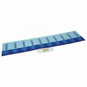 Лейкопластырь бактерицидный LEIKO комплект 1000 шт., 2,5х7,2 см, на прозрачной полимерной основе, 213076