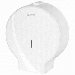 Диспенсер для туалетной бумаги LAIMA PROFESSIONAL ORIGINAL (Система T1), БОЛЬШОЙ, белый, ABS-пластик, 605768
