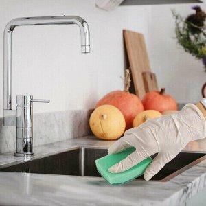 Губки бытовые для мытья посуды, комплект 10 шт., поролон/абразив, высота 27 х ширина 96 х глубина 64 мм, ЛАЙМА, 601552
