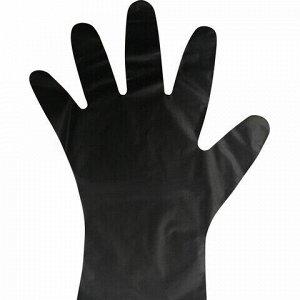 Перчатки TPE термопластэластомер, КОМПЛЕКТ 50 пар (100 шт.) неопудренные, размер М, черные, AVIORA, 402883, 402-883