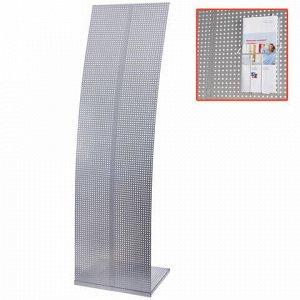 Стойка напольная для рекламных материалов (160х45,5х36 см), без лотков, хром, ПАРУС-2, (лотки 290443-290445), 290442