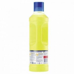 """Средство для мытья пола дезинфицирующее 1 л GLORIX (Глорикс) """"Лимонная Энергия"""", без хлора, 8677296"""