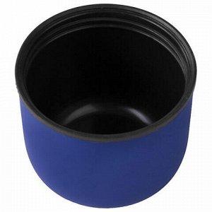 Термос LAIMA классический с узким горлом, 0,35 л, нержавеющая сталь, синий, 605121