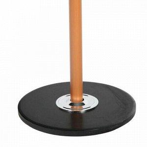 """Вешалка-стойка BRABIX """"CR-318"""", металл/мрамор, 1,8 м, на диске диаметром 36 см, 5 крючков+4 дополнительных, орех, 601743"""