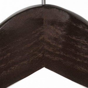 """Вешалки-плечики, размер 48-50, КОМПЛЕКТ 5 шт., дерево, перекладина, цвет шоколад, BRABIX """"Стандарт"""", 601162"""