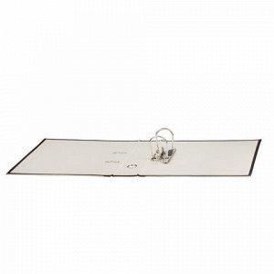 """Папка-регистратор STAFF """"EVERYDAY"""" с мраморным покрытием, 70 мм, с уголком, черный корешок, 227187"""