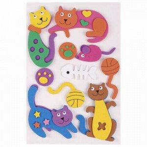 """Наклейки из EVA """"Кошки-мышки"""", 10 шт., ассорти, ОСТРОВ СОКРОВИЩ, 661463"""
