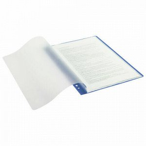 """Папка 10 вкладышей STAFF """"EVERYDAY"""" с перфорацией, мягкая, синяя, 0,16 мм, 224974"""