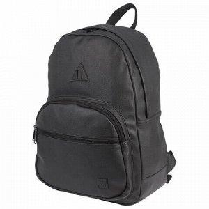 """Рюкзак BRAUBERG молодежный, с отделением для ноутбука, """"Урбан"""", искусственная кожа, черный, 42х30х15 см, 227084"""