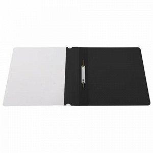 Скоросшиватель пластиковый STAFF, А4, 100/120 мкм, черный, 229239