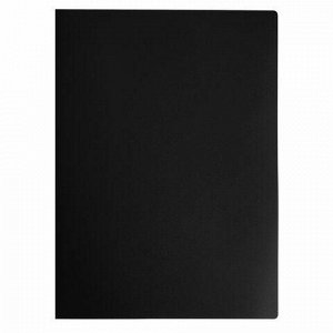 Папка на 4 кольцах STAFF, 25 мм, черная, до 170 листов, 0,5 мм, 225725