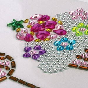 Наклейки готовые из страз ПИРОЖЕНКИ, 4 декоративных элемента, 9,5х15,5 см, ОСТРОВ СОКРОВИЩ, 661563