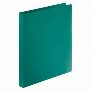 Папка на 4 кольцах STAFF, 25 мм, зеленая, до 170 листов, 0,5 мм, 225727