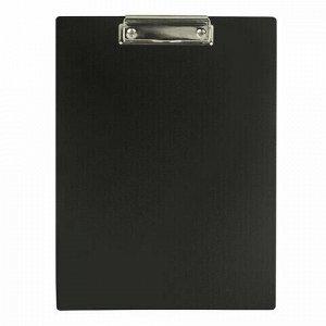 Доска-планшет STAFF с прижимом А4 (315х235 мм), пластик, 1 мм, черная, 229223