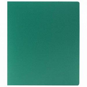Папка на 2 кольцах STAFF, 40 мм, зеленая, до 300 листов, 0,5 мм, 225723