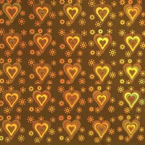"""Цветной картон А4 ГОЛОГРАФИЧЕСКИЙ, 8 листов, 8 цветов, 230 г/м2, """"СЕРДЕЧКИ"""", ОСТРОВ СОКРОВИЩ, 129881"""