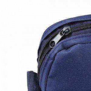 """Сумка деловая для документов из ткани на молнии, 37х32х5 см, синяя, STAFF """"Manager"""", 228346"""