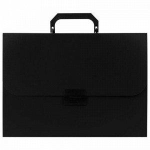 Портфель пластиковый STAFF А4 (330х235х36 мм), 7 отделений, индексные ярлыки, черный, 229243