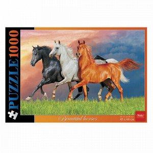 """Пазл STANDARD, 1000 элементов, А2, """"Красивые лошади"""", 450х680 мм, 1000ПЗ2 13357, U176221"""