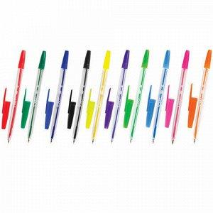 Ручки шариковые STAFF C-51, НАБОР 10 шт., АССОРТИ, узел 1 мм, линия письма 0,5 мм, 142818