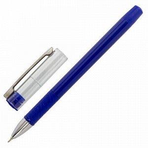 """Ручка шариковая масляная с грипом STAFF """"Profit Chrome-X"""", СИНЯЯ, корпус синий, хромированные детали, узел 0,7 мм, линия 0,35 мм, 142984"""