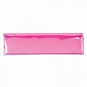 "Пенал-косметичка ЮНЛАНДИЯ, мягкий, полупрозрачный ""Glossy"", розовый, 20х5х6 см, 228984"