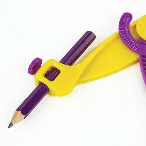 Циркуль ЮНЛАНДИЯ пластиковый с карандашом, 140 мм, блистер, 210653