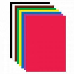 """Картон цветной МАЛОГО ФОРМАТА, А5, МЕЛОВАННЫЙ, 8 листов, 8 цветов, в папке, ЮНЛАНДИЯ, 145х200 мм, """"Заяц"""", 111316"""