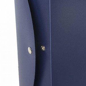 Короб архивный (330х245 мм), 70 мм, пластик, разборный, до 750 листов, синий, 0,7 мм, STAFF, 237274