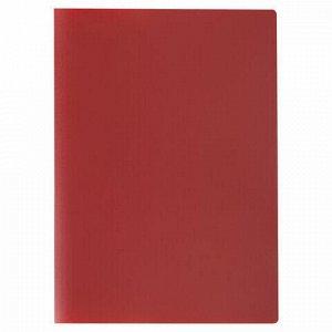 Папка с пластиковым скоросшивателем STAFF, красная, до 100 листов, 0,5 мм, 229229