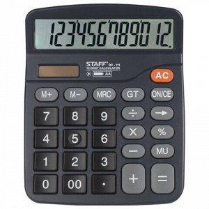 Калькулятор настольный STAFF PLUS DC-111 (180x145 мм), 12 разрядов, двойное питание, +БАТАРЕЙКА АА, 250427