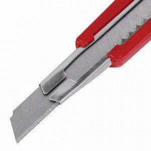 """Нож канцелярский 9 мм STAFF """"Profit"""", усиленный, металлические направляющие, автофиксатор, ассорти, 237082"""