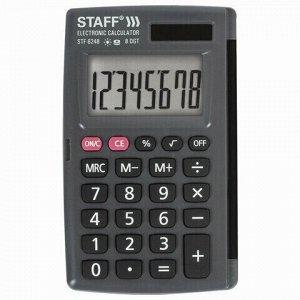 Калькулятор карманный STAFF STF-6248 (104х63 мм), 8 разрядов, двойное питание, 250284