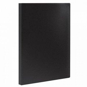 Папка 10 вкладышей STAFF, черная, 0,5 мм, 225689