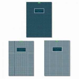 """Тетрадь, А4, 80 л., HATBER """"ECO"""", скоба, клетка, обложка картон, """"Classic"""" (3 вида), 80Т4C3"""