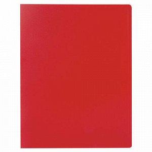 Папка 10 вкладышей STAFF, красная, 0,5 мм, 225690
