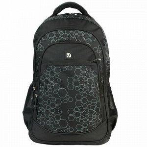"""Рюкзак BRAUBERG для старшеклассников/студентов/молодежи, """"Стихия"""", 30 литров, 31х16х47 см, 225289"""