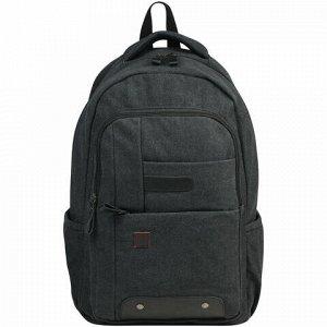 """Рюкзак BRAUBERG для старшеклассников/студентов/молодежи, холщовый, """"Пульс"""", 20 литров, 44х30х14 см, 225296"""