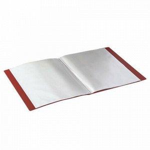 Папка 40 вкладышей STAFF, красная, 0,5 мм, 225702