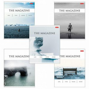 """Тетрадь А5, 96 л., HATBER, скоба, клетка, выборочный лак, """"The magazine"""" (5 видов), 96Т5вмВ1"""