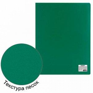 Папка 40 вкладышей STAFF, зеленая, 0,5 мм, 225703